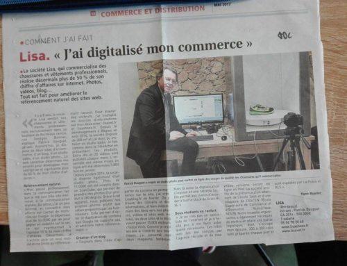 La digitalisation de la SARL LISA : un article dans le Journal Des Entreprises !
